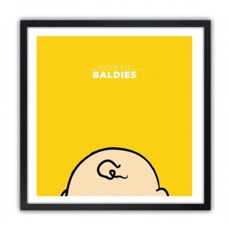 Affiche Notorious Baldie CHARLIE BROWN by Mr Peruca