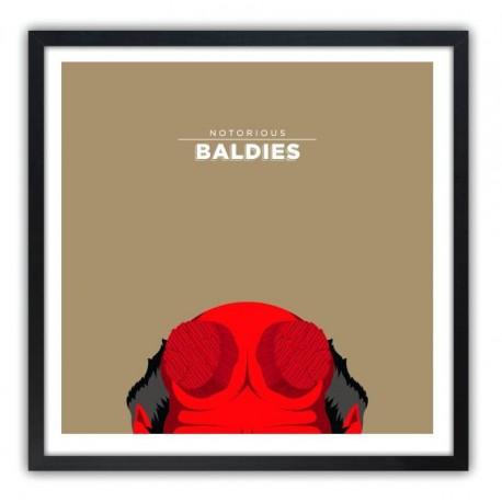 Affiche Notorious Baldie HELLBOY by Mr Peruca