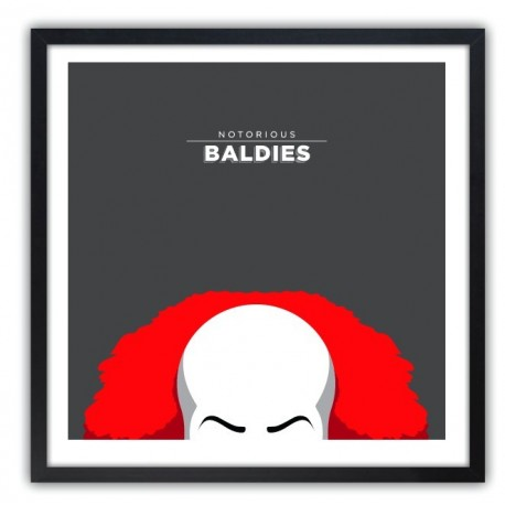Affiche Notorious Baldie PENNYWISE by Mr Peruca