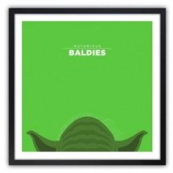Affiche Notorious Baldie YODA by Mr Peruca