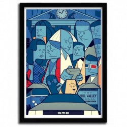 Affiche BACK TO THE FUTURE par Ale Giorgini