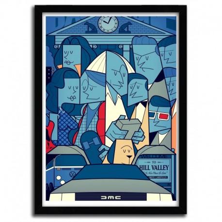 Affiche BACK TO THE FUTURE par Ale Giorgini