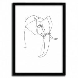Affiche ELEPHANT par QUIBE