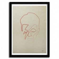 Affiche ONE LINE DAVID BOWIE par QUIBE