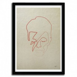 ONE LINE DAVID BOWIE by QUIBE