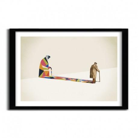 Affiche WALKING SHADOW, OLD MAN par JASON RATLIFF