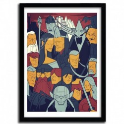 Affiche THE RETURN OF THE KING par Ale Giorgini