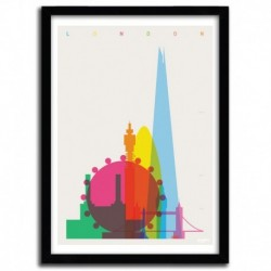 Affiche LONDON by YONI ALTER