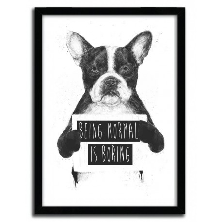 Affiche BEING NORMAL IS BORING par BALAZS SOLTI