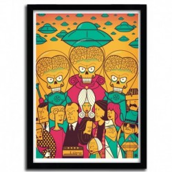 Affiche MARS ATTACKS! par Ale Giorgini