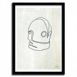 Affiche ONE LINE IRON GIANT par QUIBE