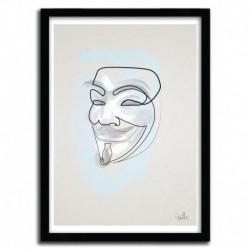 Affiche ONE LINE MASK: V par QUIBE