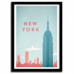 Affiche New York par Henry Rivers