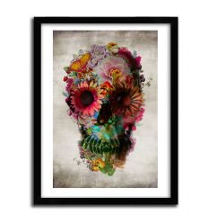 Affiche Floral SKULL by ALI GULEC