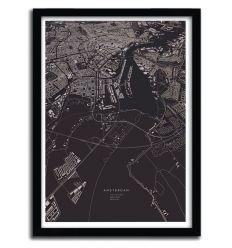 Affiche Amsterdam City Map par Luis Dilger