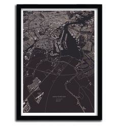 Amsterdam City Map by Luis Dilger