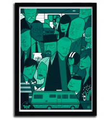 Affiche breaking bad Green par Ale Giorgini
