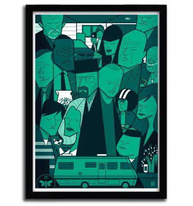 Affiche breaking bad Green par Ale Giorgini