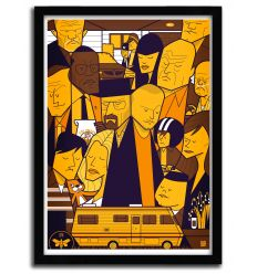 Affiche breaking bad Yellow par Ale Giorgini