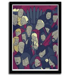 Affiche Game Of Thrones par Ale Giorgini