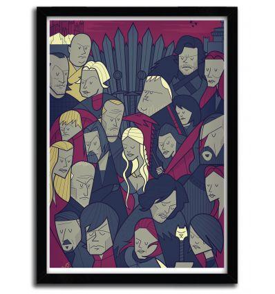 Affiche Game Of Thrones par Ale Giorgini