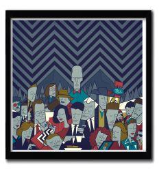 Affiche TWINPEAKS par ALE GIORGINI