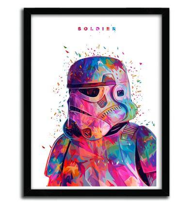 Affiche SOLDIER White par Alessandro Pautasso