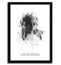 Affiche shadow collection daenerys par JULIEN KALTNECKER