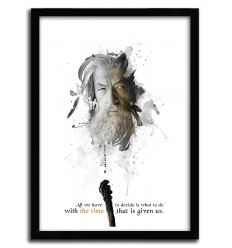 Affiche shadow collection gandalf par JULIEN KALTNECKER