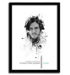 Affiche shadow collection jon snow par JULIEN KALTNECKER