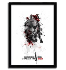 Affiche shadow collection michonne par JULIEN KALTNECKER
