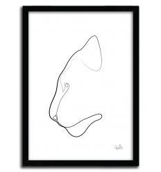 Affiche ONE LINE TIGER par QUIBE