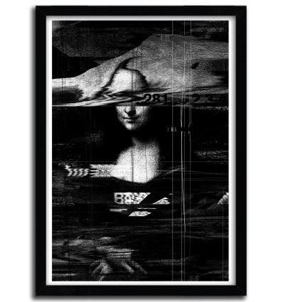 Affiche Mona Lisa Glitch par Nicebleed