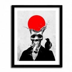 Affiche SPLASH SKULL par ALI GULEC
