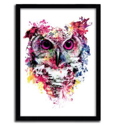 Affiche owl par Riza Pekler