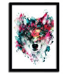 Affiche wolf par Riza Pekler