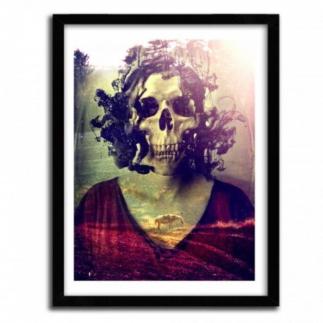Affiche MISS SKULL by ALI GULEC