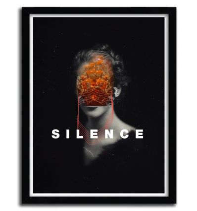 Affiche Silence by FRANK MOTH