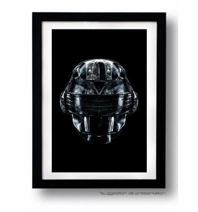 Affiche DAFT BLACK FACE 1 par Rubiant