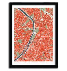 Affiche Amsterdam pop by PLANOS URBANOS