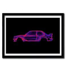 Affiche BMW M3 e30 par OCTAVIAN MIELU