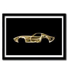 Affiche Corvette c3 par OCTAVIAN MIELU