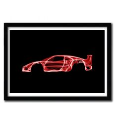 Affiche Ferrari F40 par OCTAVIAN MIELU
