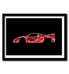 Affiche Ferrari F50 par OCTAVIAN MIELU
