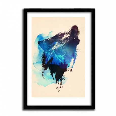 Affiche ALONE AS A WOLF by ROBERT FARKAS