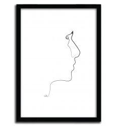 Affiche ONE LINE sideline par QUIBE