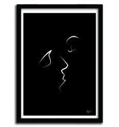 Affiche ONE LINE kiss par QUIBE