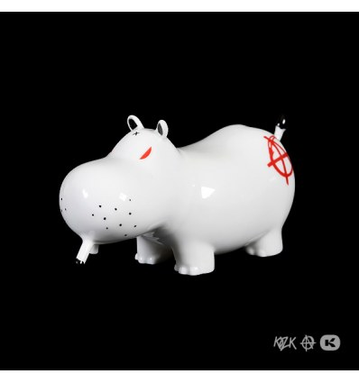Potamus Red Anarchy by Frank Kozik & K.Olin Tribu