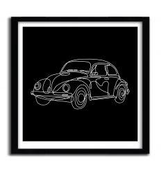 Affiche Classic Beetle par MERUPA