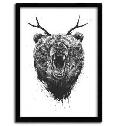 Affiche angry bear par BALAZS SOLTI